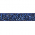 Ruban fantaisie pailleté imitation cuir  5 mm Dark Blue Glitter x1.2m