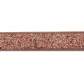 Ruban fantaisie pailleté imitation cuir  5 mm Copper Brown Glitter x1.2m