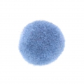 Pompon rond synthétique 2 cm Light Blue x1