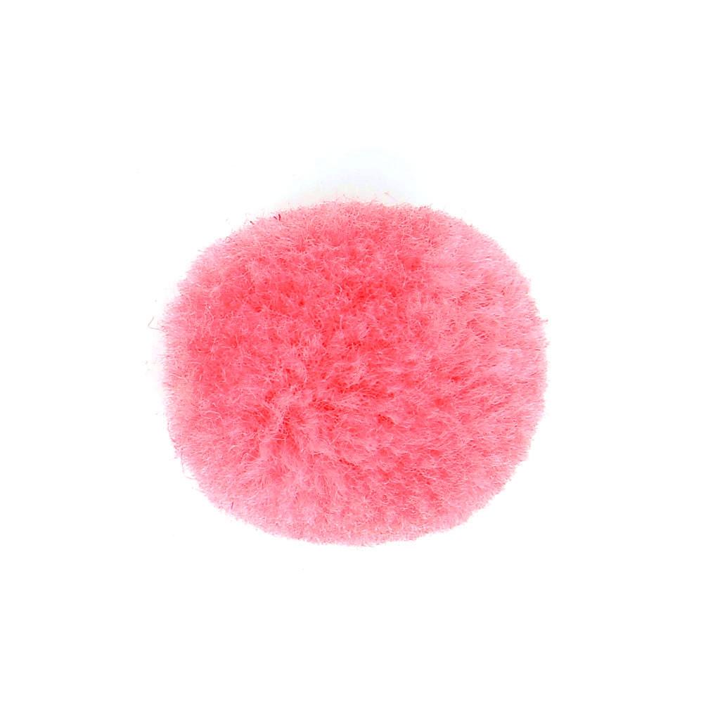 pompon rond synth tique 2 cm rose fonc x1 perles co. Black Bedroom Furniture Sets. Home Design Ideas