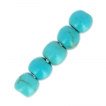 Turquoise imitation rondes 4 mm x20