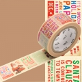 Masking Tape Noël 20 mm - motif journal de Noël x7m