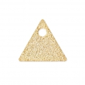 Sequins en métal diamanté triangle 8 mm doré x8