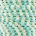 Galon mini pompons 13 mm Mint/Rose/Bleu/Blanc x1m