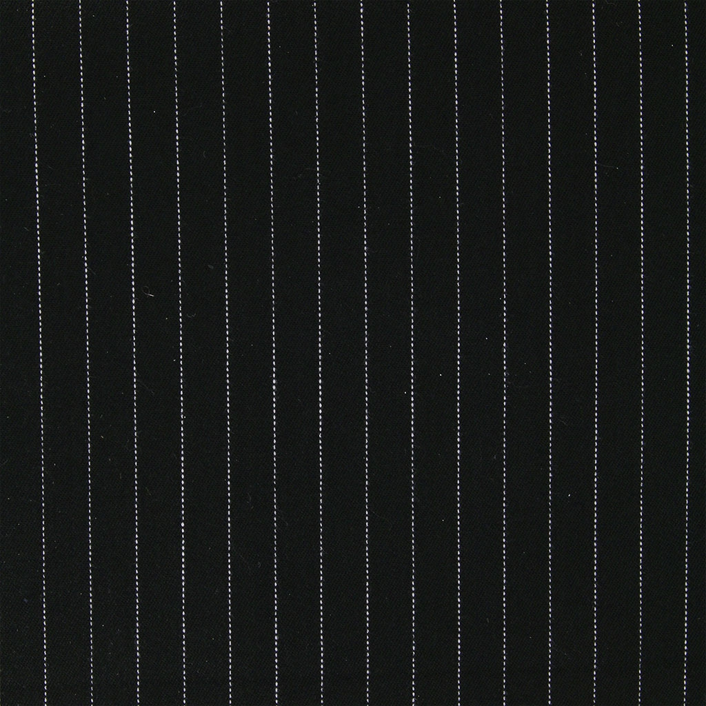 Tissu 224 Rayures Gabardine Stretch Noir Blanc X10cm