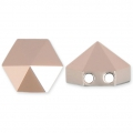 Hexagon Spike Bead Swarovski 5060 deux trous 7.5 mm Crystal Rose Gold x1