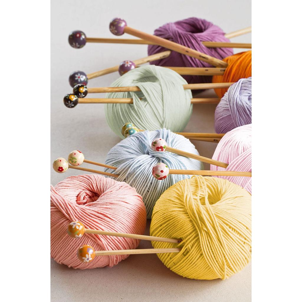 Aiguilles tricoter grande longueur en bambou 4 mm x 38 cm dmc perles co - Aiguille a tricoter grande longueur ...