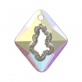 Pendentif Swarovski 6926 Growing Crystal Rhombus 36 mm Crystal AB