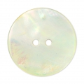 Bouton Nacre Rond 22 mm Naturel x1