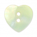 Bouton Nacre Coeur 12.5x12 mm Naturel x1