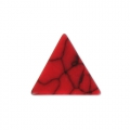 Cabochon triangle imitation Howlite teinté 8.5x8.5 mm Red Corail x5