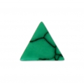 Cabochon triangle imitation Howlite teinté 8.5x8.5 mm Green x5