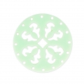 Intercalaire rond multirangs en plexiglas 27 mm Mint Green x1