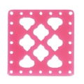 Intercalaire carré multirangs en plexiglas 30x30 mm Pink x1