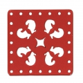 Intercalaire carré multirangs en plexiglas 30x30 mm Red x1