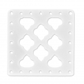 Intercalaire carré multirangs en plexiglas 30x30 mm White x1