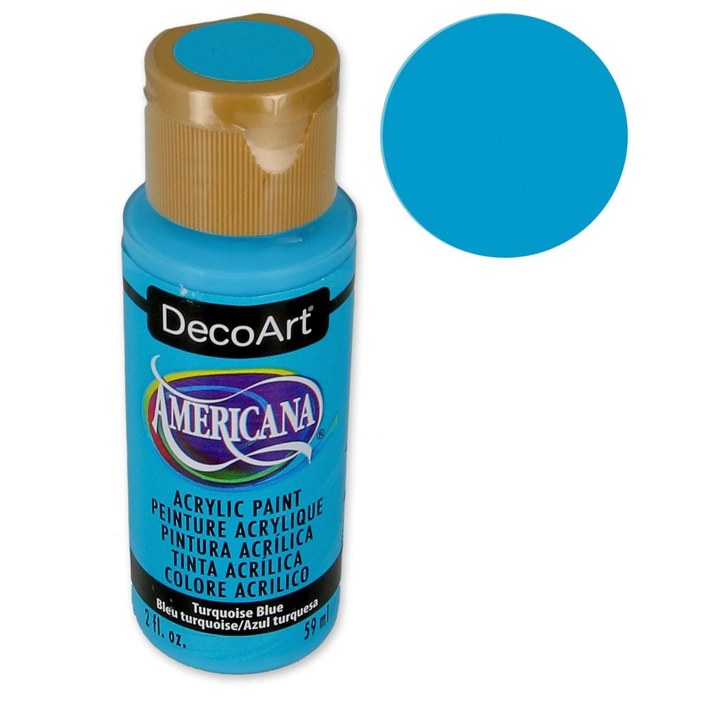 peinture acrylique haute qualité - decoart americana - turquoise