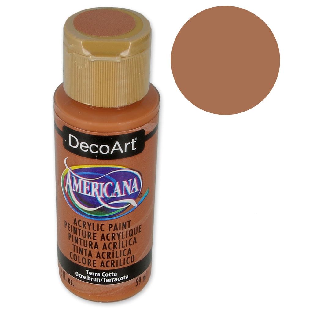 Peinture Couleur Terre Cuite peinture acrylique haute qualité - decoart americana - terracotta x59ml