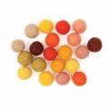 Assortiment de perles / boules en laine feutrée 15 mm Mix Jaune x20