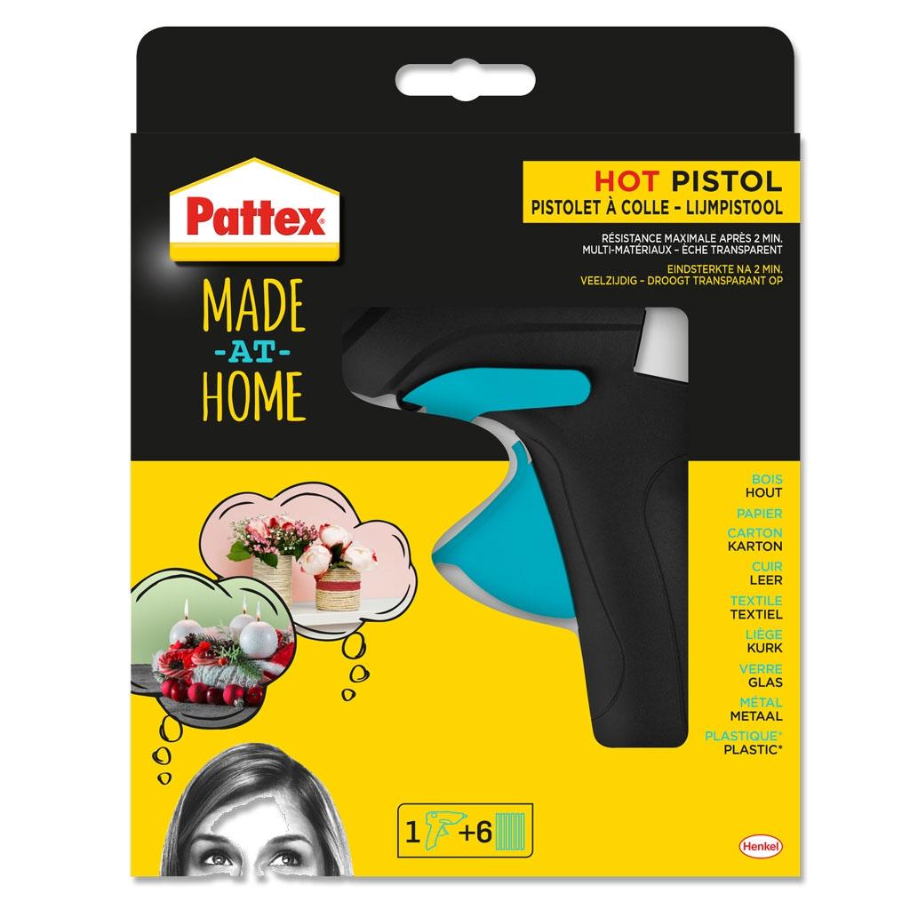pistolet colle chaude hot pistol pattex made at home. Black Bedroom Furniture Sets. Home Design Ideas