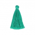 Pompon en fil imitation soie 40 mm Emerald