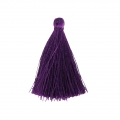 Pompon en fil imitation soie 40 mm Purple