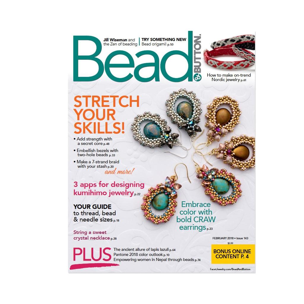 magazine bead button f vrier 2018 en anglais perles co. Black Bedroom Furniture Sets. Home Design Ideas