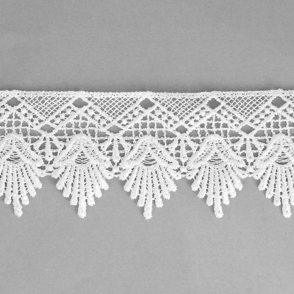 ruban dentelle motif fleur 50 mm blanc x1m perles co. Black Bedroom Furniture Sets. Home Design Ideas