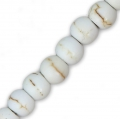 Perles rondes applaties imitation Howlite 4x3 mm x20
