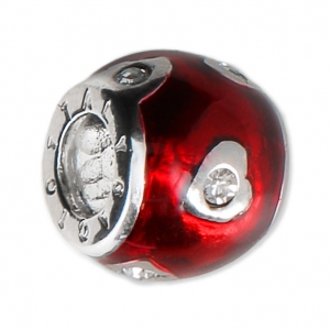 perle charm gros trou r sine poxy argent 925 coeur rouge x1 perles co. Black Bedroom Furniture Sets. Home Design Ideas