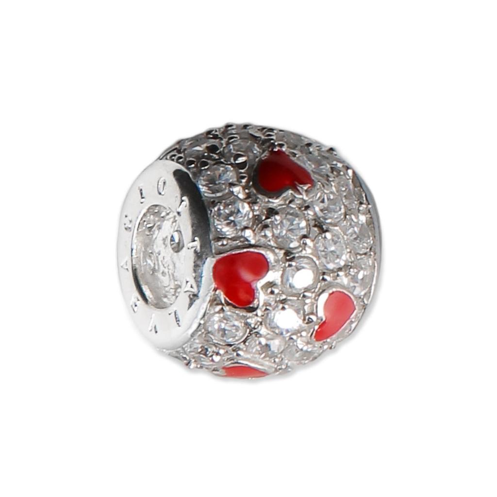 perle charm gros trou r sine poxy et strass argent 925 coeur perles co. Black Bedroom Furniture Sets. Home Design Ideas