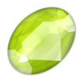Cabochon Swarovski 4120 14x10 mm Crystal Lime x1