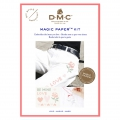 Kit DMC - Broderie point de croix - Magic Paper - Amour