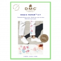 Kit DMC - Broderie traditionnelle - Magic Paper - Fleurs