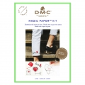 Kit DMC - Broderie traditionnelle - Magic Paper - Amour