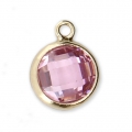 Pendentif 8.5x6.5 mm Light Rose/Gold filled 14 carats x1