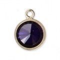 Pendentif 8.5x6.5 mm Amethyst/Gold filled 14 carats x1