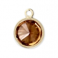 Pendentif 8.5x6.5 mm Topaz/Gold filled 14 carats x1