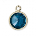 Pendentif 8.5x6.5 mm Aqua Blue/Gold filled 14 carats x1