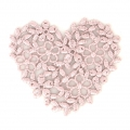 Ecusson Thermocollant brodé Coeur 40x45 mm Rose x1