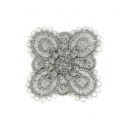 Ecusson Thermocollant brodé Fleur 30x30 mm Gris x1