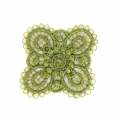 Ecusson Thermocollant brodé Fleur 30x30 mm Vert x1