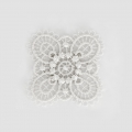 Ecusson Thermocollant brodé Fleur 30x30 mm Blanc x1