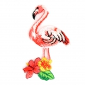 Ecusson Thermocollant pailleté - Oiseaux Tropicaux 60x35 mm Flamant Rose x1
