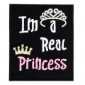 Ecusson Thermocollant - Message 60x50 mm I'm a real Princess x1