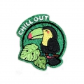 Ecusson Thermocollant pailleté - Chill out 45x45 mm Toucan x1