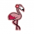 Ecusson Thermocollant pailleté - Hello Summer 50x40 mm Flamant Rose x1