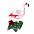 Grand Ecusson Thermocollant 8x16 cm Flamant rose x1
