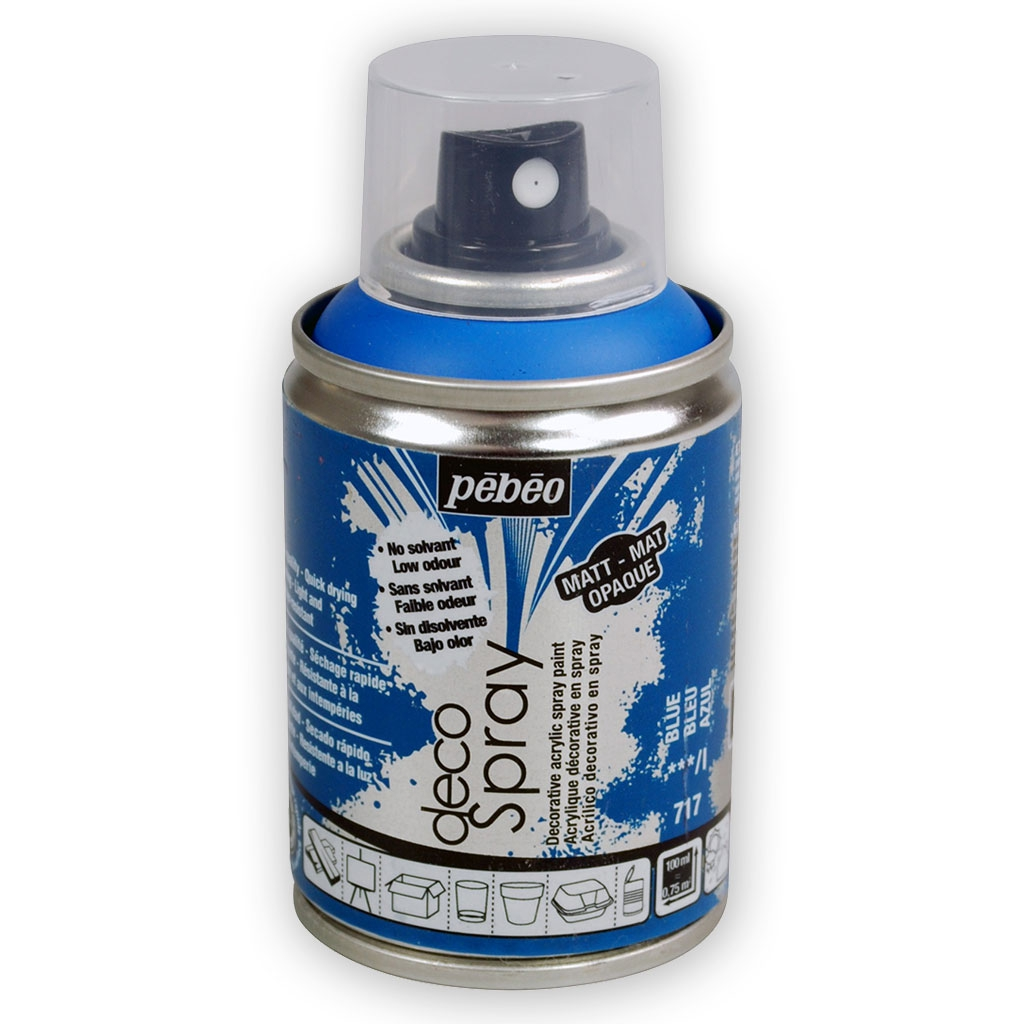 decospray p b o bombe de peinture en spray mat bleu. Black Bedroom Furniture Sets. Home Design Ideas