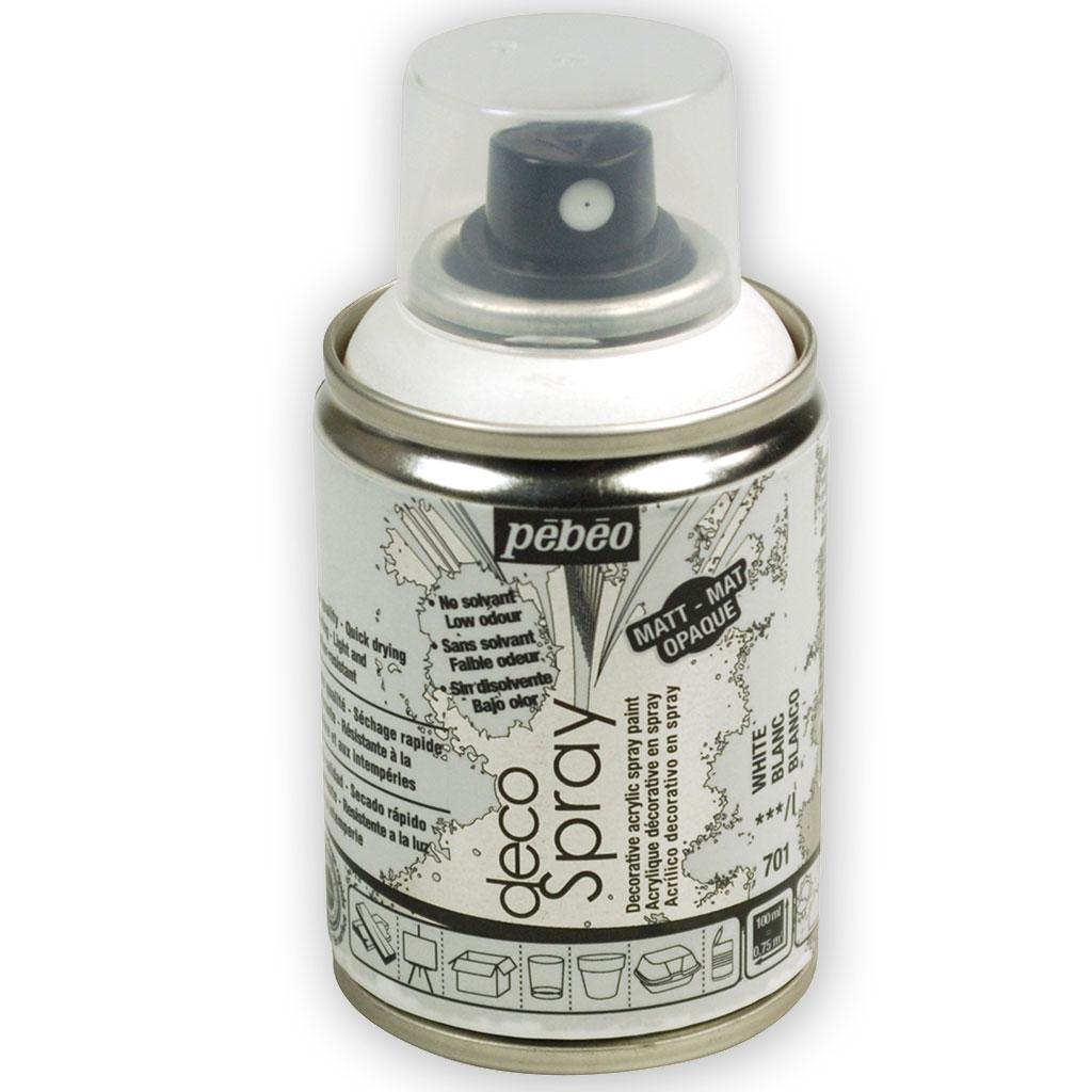 Decospray Pébéo Bombe De Peinture En Spray Mat Blanc X 100 Ml